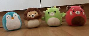 Kellytoy Squishmallows Dragon, Panda, Penguin & Lion 6'�� Soft Toy Bundle