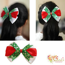 Women Girl Bowknot Hair Clip Hairpin Barrette Bow Crystal Accessories Xmas Gift