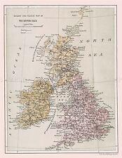 MAP REPRO ANTIQUE EMRIK BINGER RAIL TOURIST BRITISH ISLES LARGE ART PRINT LF889