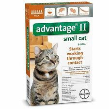 New Advantage Ii for Small Cats 5-9 lbs - 6 Pack - Epa Approved / Free Ship