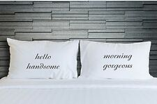 Pillowcases Hello Handsome Gorgeous Funny Bedding Adult Novelty Gifts WSD768