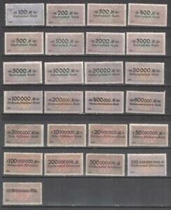 Germany set of revenues for bills of exchange 1923 MNG Stempelmarken fiscal