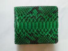 GREEN PYTHON WALLET Genuine Python Snakeskin Bifold Wallet