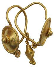 Unique romana oro Orecchini con Ciondolo 5.45g/12-24mm SUPER conservato r-313