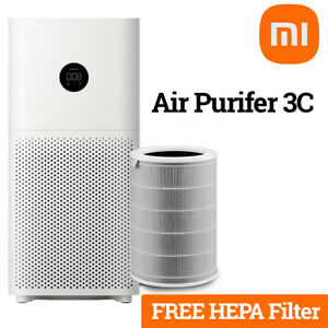 Xiaomi Mi 3C Air Purifier for 410ft² Rooms True HEPA 3 Layer Filter Wifi Enabled