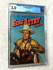 Gene Autry Comics #37 CGC 3.0 off-white pgs 2 Photo Covers front/rear March 1950