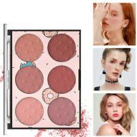 6 Colors Face Makeup Cheek Blush Powder Matte Blusher Pressed Foundation Palette