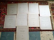 ELIZABETHAN BIBLIOGRAPHIES BY SAMUEL & DOROTHY R. TANNENBAUM 9 VOLUMES 1945-46
