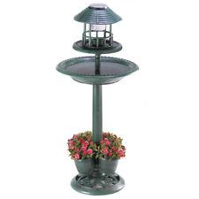 Solar-Lighted Birdbath and Planter