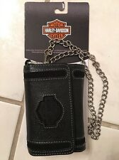 NWT- Harley Davidson Premium Leather Accessory Case With Removable Chain