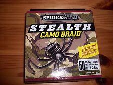 Spiderwire Stealth Camo Braided Braid Fishing Line - 125 yd Spool - 50 lb Test