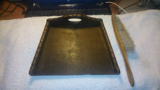 Vintage Edardian Oak Butlers Table Crumbs Dustpan And Brush