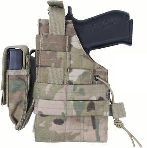 Tactical Gun Holster, MOLLE Pistol Firearm Army Camo Military Modular Belt Waist