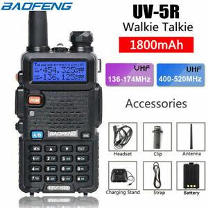 Baofeng UV-5R Walkie Talkie VHF UHF Dual Band Handheld Two Way Radio 5W AU