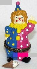 WAVING CLOWN-Porcelain Hinged-Box..with ICE CREAM CONE