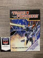 Booklet Poster Variant Transformers G1 Vintage Catalog Order Form Starscream