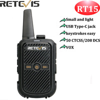 Retevis RT15 VOX TOT Walkie Talkies Analog FRS 16CH  50CTCSS/208 DCS  2Way Radio