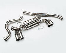 AGENCY POWER CATBACK EXHAUST+QUAD SS TIPS FOR 08-14 SUBARU STI/10-14 WRX 5DR H/B