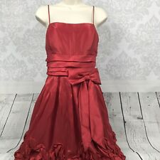 Fiesta Red Dress W/ Bow Prom Homecoming Dance Size L