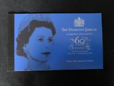 """Prestige Booklet Of Stamps """"The Diamond Jubilee 60 Years Of Service"""""""