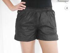 Selected Femme Ledershorts Hotpants Leder schwarz Gr. 36