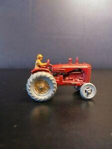 Matchbox Lesney #4 Massey Harris Tractor. Gold Hubs VNM