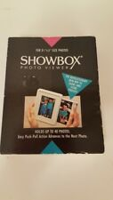 Showbox Photo Viewer Holds up to 40 photos New White Slide Out Drawer