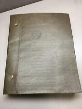 """Original Typewritten Manuscript Kendall Mitchell's Novel """"A Chair by the Fire"""""""