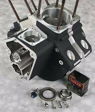 BLACK ENGINE CASE EVO HARLEY MOTOR SOFTAIL DYNA FXR FXRS ELECTRA GLIDE ROAD KING