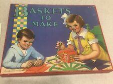 """Vintage Arts & Crafts """"Baskets to Make"""" Kit Kids Children 1930's, Saml. Gabriel"""