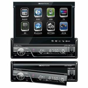 "Soundstream VIR7830B SingleDin Bluetooth Car Stereo DVD Player 7"" LCD Touchscree"