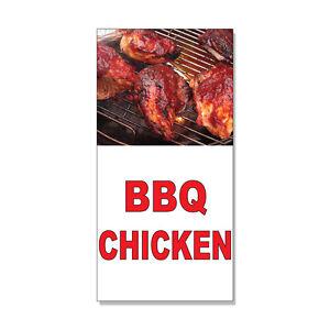Bbq Chicken Red Food Bar Restaurant Food Truck  DECAL STICKER Retail Store Sign