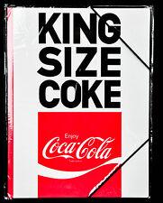 """Coca Cola A4 Format Sammelmappe mit Gummizug Schulmappe /""""Drink Coca Cola/"""""""