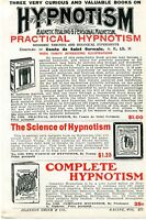 1926 small Print Ad Practical, Complete & Science of Hypnotism magnetic healing