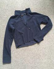Berghaus DIY Cropped Navy Blue Fleece Walking Size Small 8 Raw Edge Self Cropped