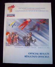 Off.Ergebnisse / Resultate   Nordische Ski WM THUNDER BAY (Canada) 1995 ! SELTEN