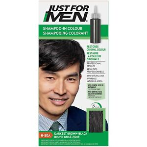 Just For Men Shampoo-In #H-50A Haircolor Darkest Brown/Black - 3 PACK