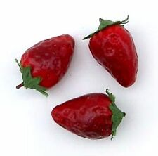 """Artificial Mini Strawberry, Bag of 48 Decorative Fake Fruit .75"""" and 1"""""""