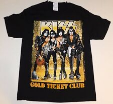 KISS Band Rock The Nation Tour 2004 Gold Ticket Club Concert T-Shirt L UNWORN