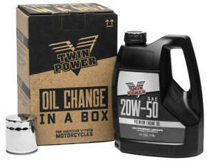 Twin Power 20W50 Quick Change Oil Kit Harley-Davidson Road King 1999-2016