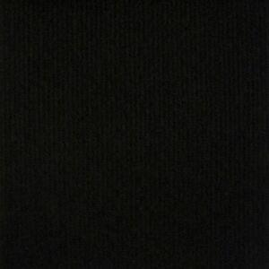 CORD Black Budget Cord Carpet, Cheap Thin Flooring, Temp Floor Cover, Exhibition