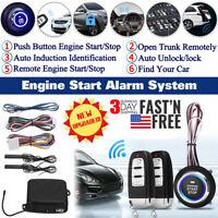 Car Start Push Button Remote Starter Keyless Entry Alarm System Engine Kit NEW