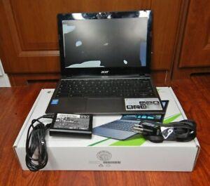 """Acer Chromebook i3 C720-3871 i3-4005U  11.6"""" 2GB Memory RAM 32GB SSD Chrome OS"""