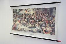 Vecchio Lavagna didattica Lotte del barricade 1848 in Berlino Vintage deco
