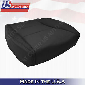 Fits 2007- 2012 Acura RDX DRIVER Bottom PERFORATED LEATHER Seat Cover in BLACK
