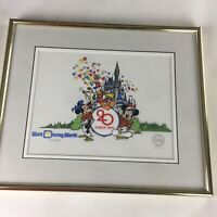 Disney 20th Anniversary Serigraph Cel Certified Limited Edition1971 to 1991