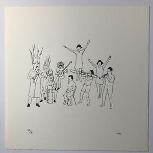 Marcel Dzama Musicians Performers Music Festival Signed Print Limited Edition 10