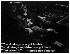 Stevie Ray Vaughan - POSTER - PSA anti-drug ad RARE Promo - Fender Strat Master