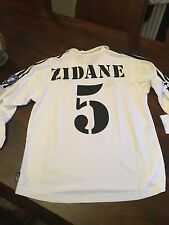 REAL MADRID Medium Retrò REMAKE ZIDANE 5 2002 Centenario shirt CHAMPIONS LEAGUE