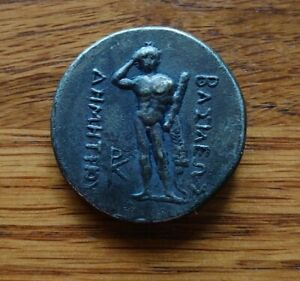 Silver Thick Greek Coin Nice Weight Good Condition